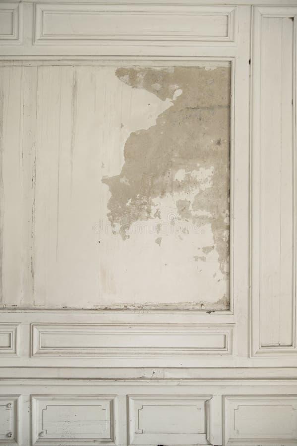 Taillierte Wand im alten Innenraum lizenzfreie stockfotos