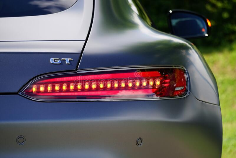 Taillight of sports car stock photos