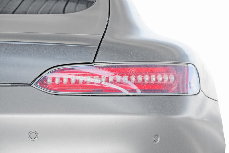Taillight of Sports Car / Roadster isolated stock photos