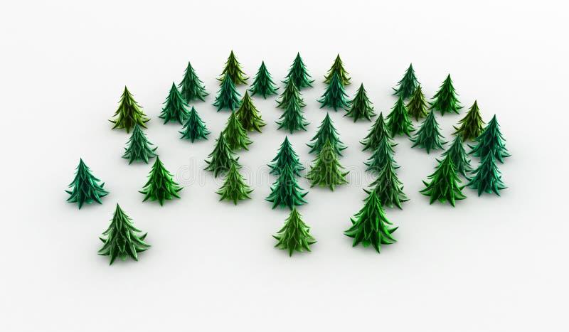 Taillis vert de sapin illustration stock image du vacances 11784317 - Dessin sapin vert ...