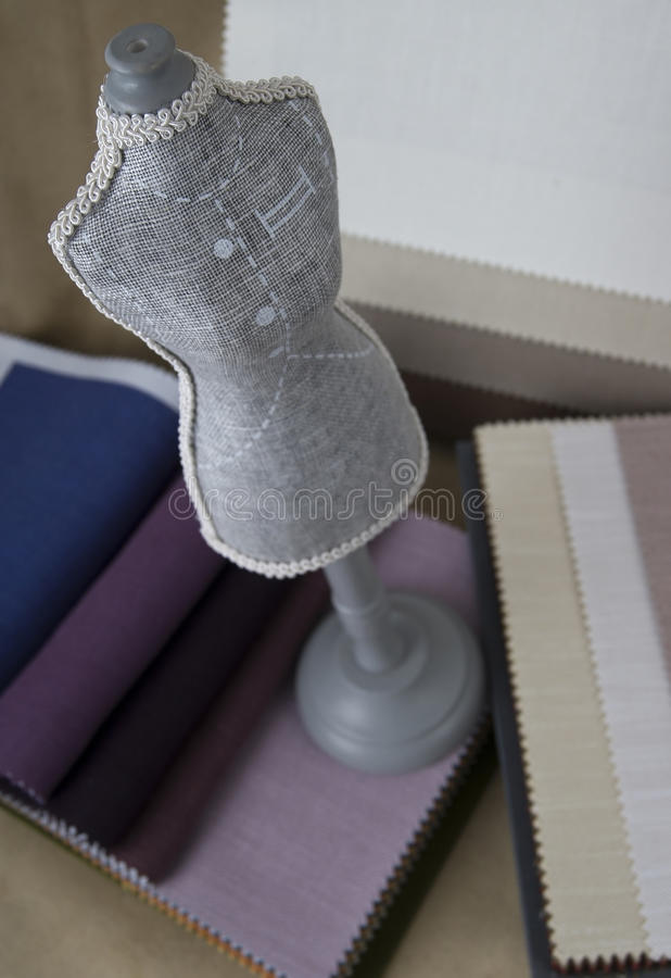Tailor materials stock photo