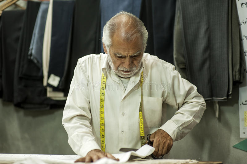 Tailor in shiraz of Iran stock photos