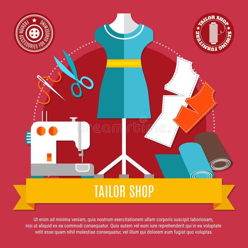 Tailor Shop Concept Illustration stock illustration
