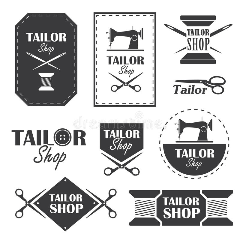 Tailor shop vector illustration