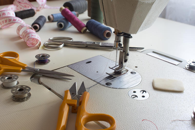 Tailor, tailoring, clothes designer work concept. High resolution image royalty free stock photos
