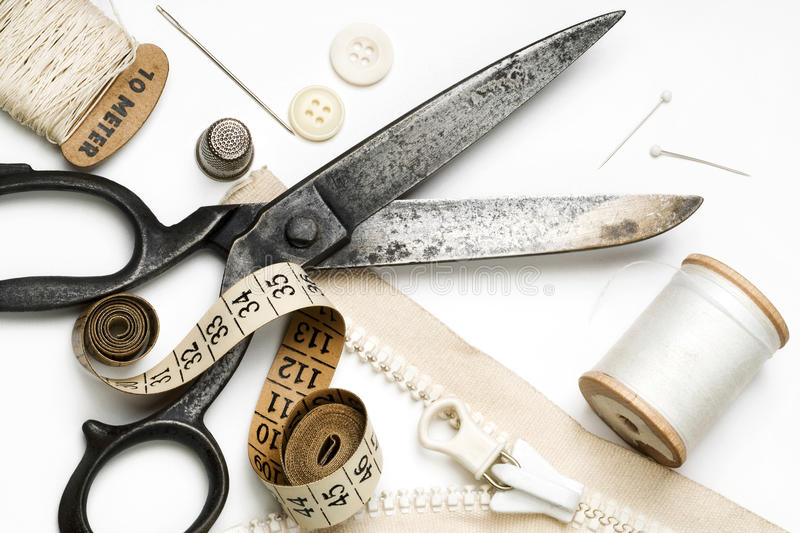 Download Tailoring stock photo. Image of thimble, craft, line - 14253334