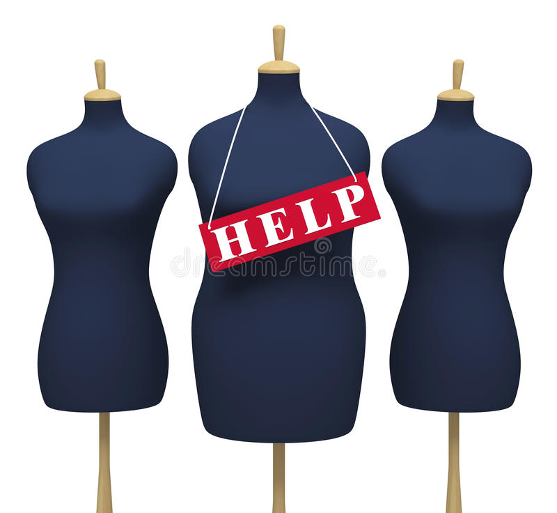 Download Tailors' Dummies - Symbolize The Extra Weight Royalty Free Stock Image - Image: 23935606