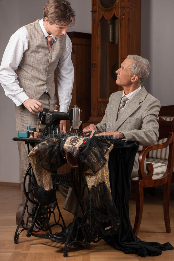Download Tailors at work. stock image. Image of tape, work, skill - 33941483