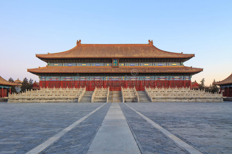 Taimiao, ο αυτοκρατορικός προγονικός ναός στοκ εικόνες