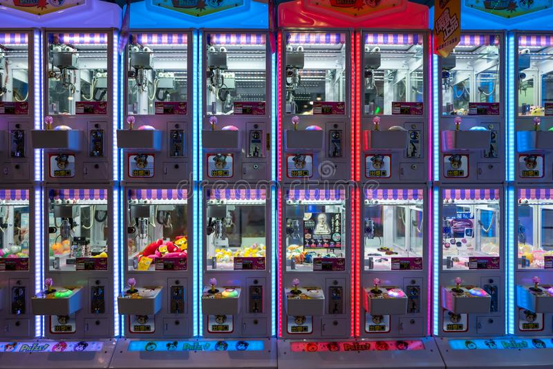 Tainan, Taïwan - 25 septembre 2018 : Machines de jeu en parc d'attractions photos libres de droits