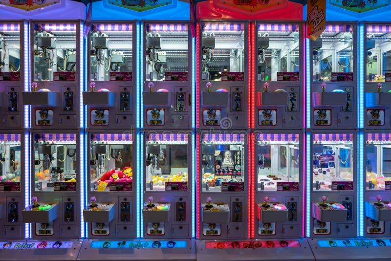 Tainan Tajwan, Wrzesień, - 25, 2018: Gemowe maszyny w parku rozrywki zdjęcia royalty free