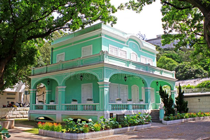 Taipa bringt Museum, Macao, China unter lizenzfreies stockbild