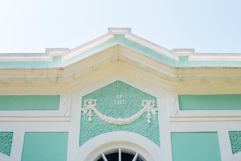 Taipa wioski kolorowy dom w Macau fotografia stock