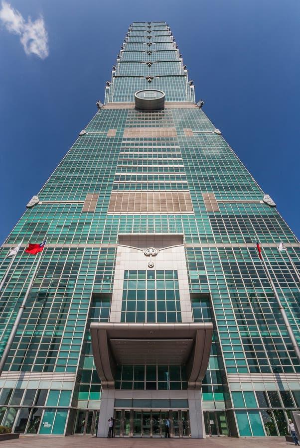 Taipeh 101 commercieel centrum stock afbeeldingen
