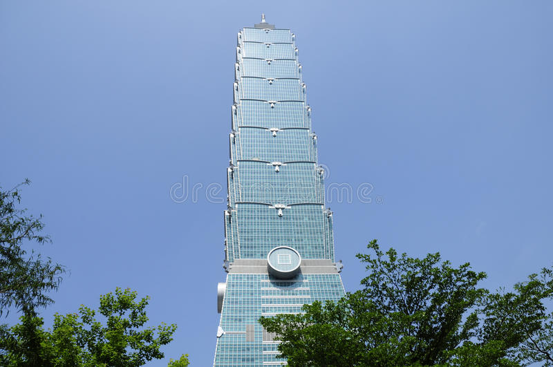 Download Taipeh 101 stock photo. Image of highest, glass, trees - 32103128