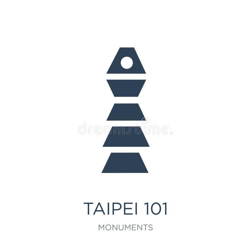 Taipeh 101 pictogram in in ontwerpstijl Taipeh 101 pictogram op witte achtergrond wordt geïsoleerd die Taipeh 101 vector eenvoudi royalty-vrije illustratie