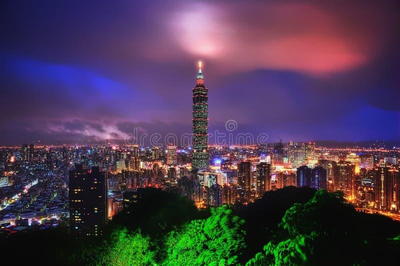 Taipeh-Skyline Taiwan stockfoto