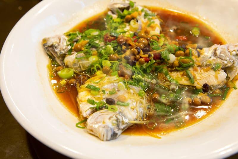Taipeh, Taiwan, zeevruchtenrestaurants, restaurants, stealing overzeese vissen, verse en gedetailleerde smaak royalty-vrije stock afbeelding