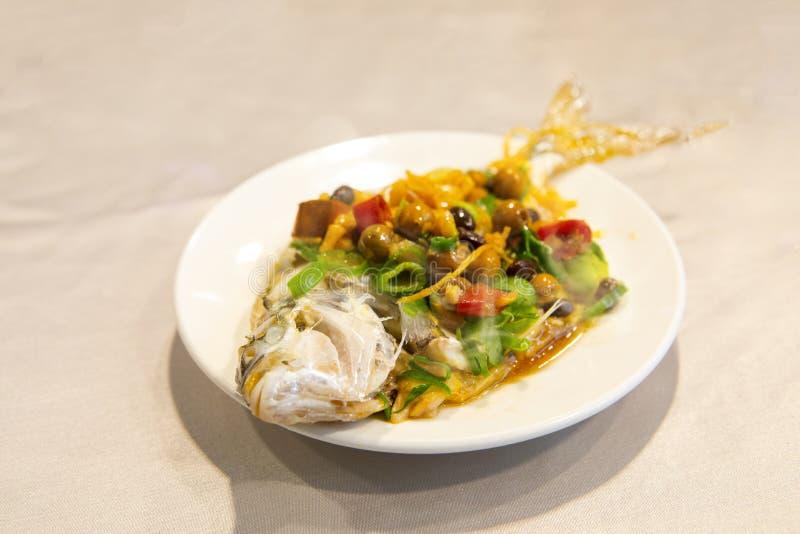 Taipeh, Taiwan, zeevruchtenrestaurants, restaurants, stealing overzeese vissen, verse en gedetailleerde smaak stock fotografie