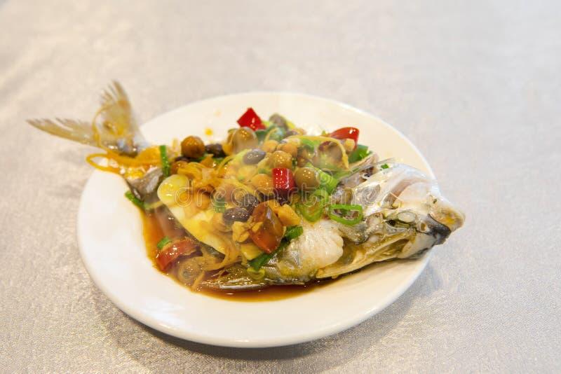 Taipeh, Taiwan, zeevruchtenrestaurants, restaurants, stealing overzeese vissen, verse en gedetailleerde smaak stock foto