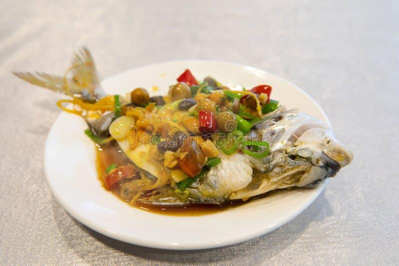Taipeh, Taiwan, zeevruchtenrestaurants, restaurants, stealing overzeese vissen, verse en gedetailleerde smaak royalty-vrije stock foto