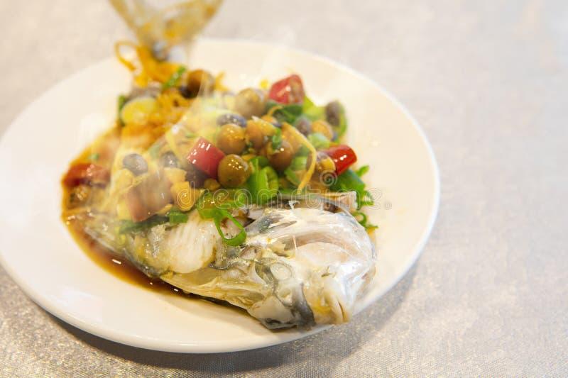 Taipeh, Taiwan, zeevruchtenrestaurants, restaurants, stealing overzeese vissen, verse en gedetailleerde smaak stock foto's
