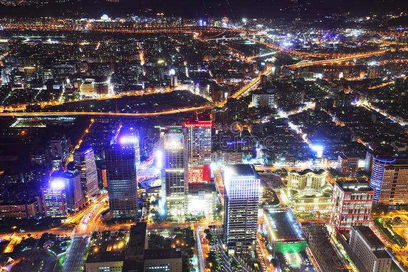 Download Taipei city night scene stock photo. Image of landscape - 21235048