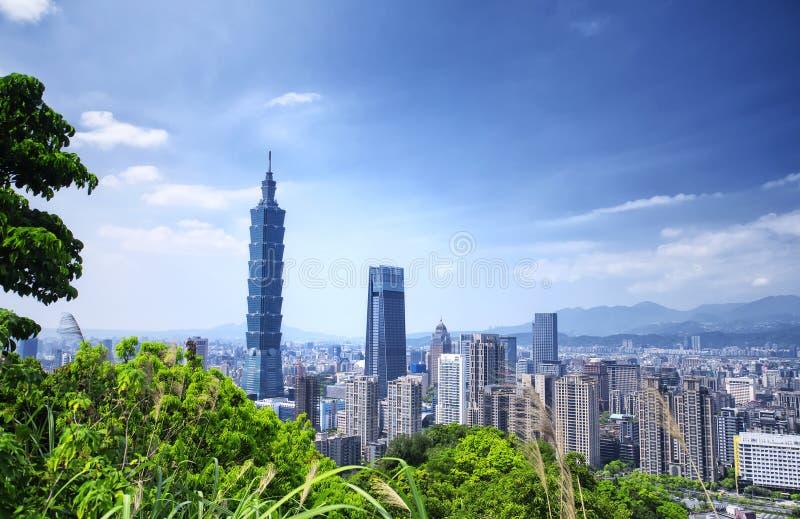 Taipei city Taiwan Skyline Sunny royalty free stock image