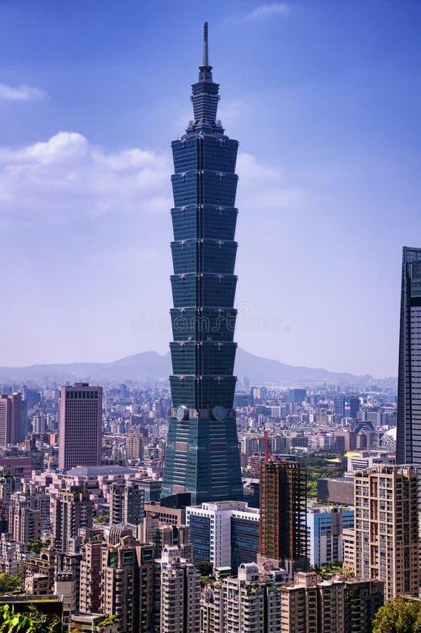 Taipei city Taiwan Skyline Sunny stock photos