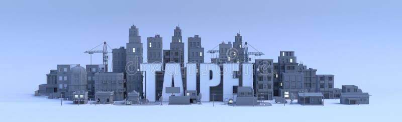 Taipei, ciudad en 3d rinde libre illustration
