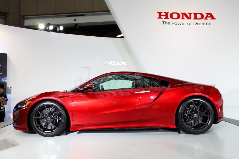 TAIPEI - 3 de enero: Honda NSX mostrado en el salón del automóvil del International de Taipei imagen de archivo libre de regalías