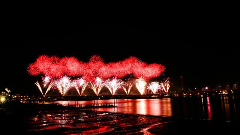 Taipei-Feuerwerke lizenzfreies stockbild