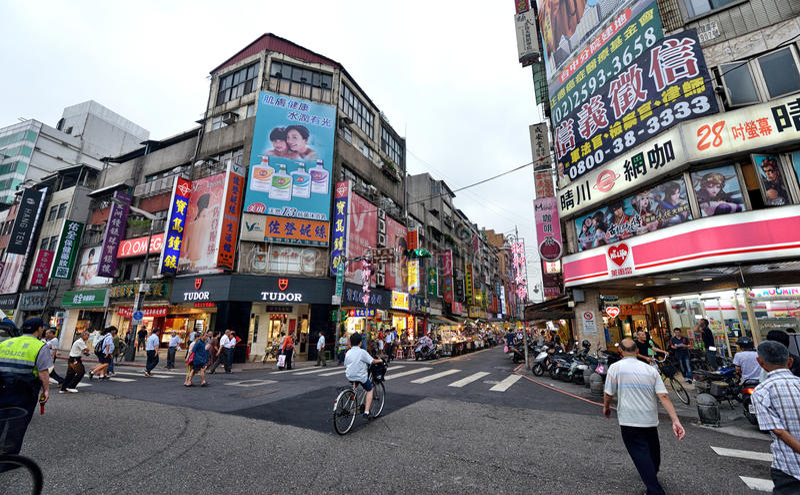 Taipei gatasikt royaltyfria bilder