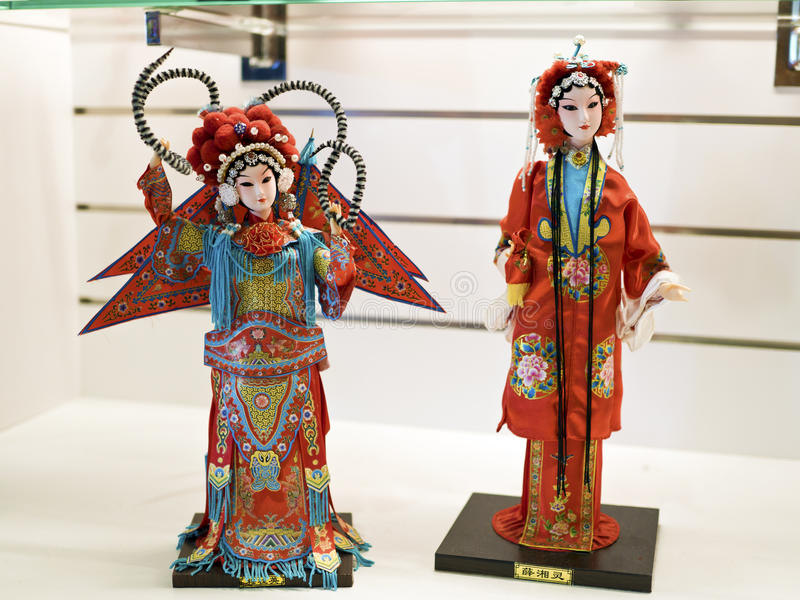 Taipei,Glove puppetry. Taipei, Taiwan - OCT 06, 2015: fantasy Glove puppetry in Puppetry Art Center of Taipei.a type of opera using cloth puppets that originated royalty free stock photography
