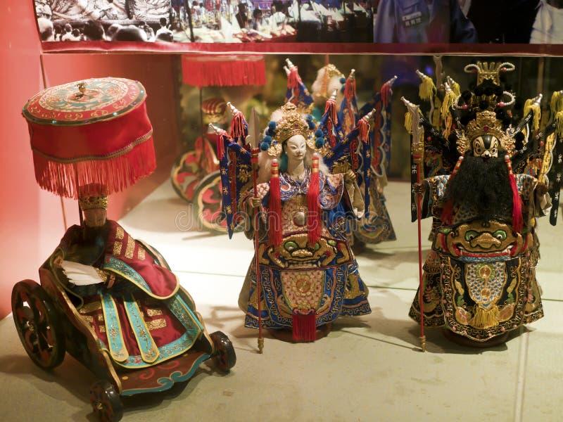 Taipei,Glove puppetry. Taipei, Taiwan - OCT 06, 2015: historic character Glove puppetry in Puppetry Art Center of Taipei.a type of opera using cloth puppets that stock photos