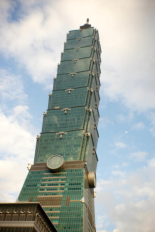Taipei 101 i taiwan royaltyfria bilder