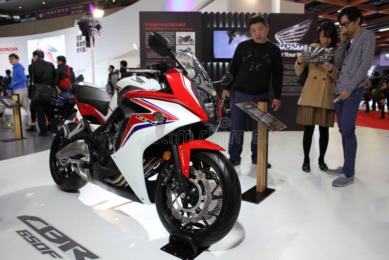 TAIPEI - Januari 3: Honda CBR Motocycle som visas på Taipei royaltyfri fotografi