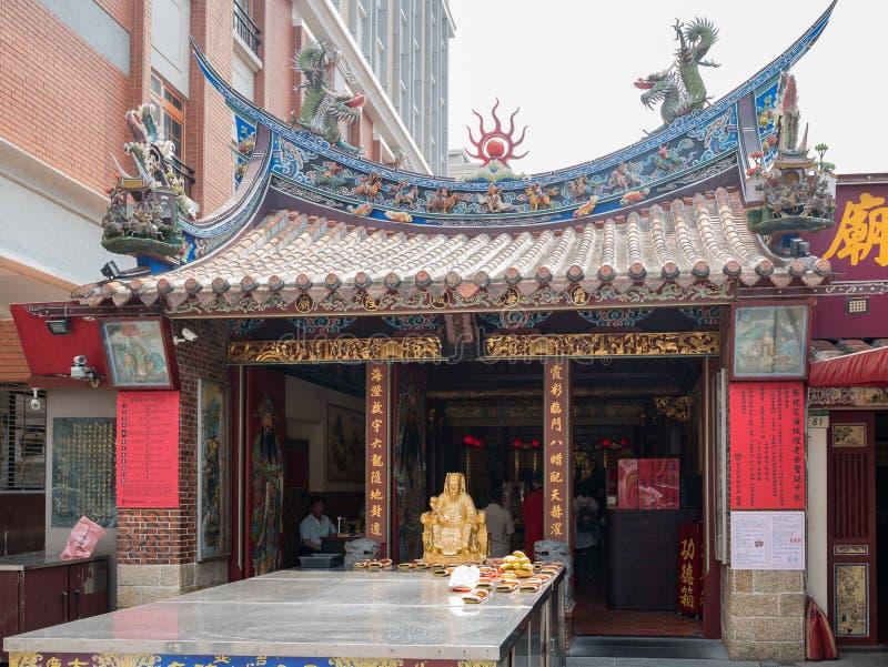 Exterior view of the Taipei Xiahai City God Temple royalty free stock image