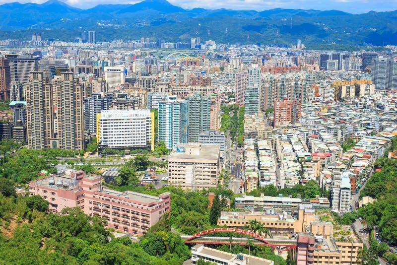 Taipei miasta panorama obraz royalty free