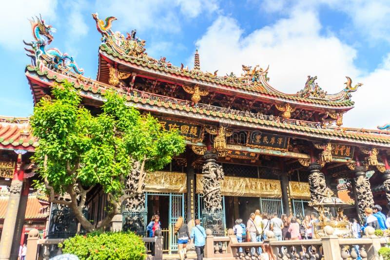 Taipei miasto Tajwan, Listopad, - 22, 2016: Lungshan świątynia Manko zdjęcie royalty free