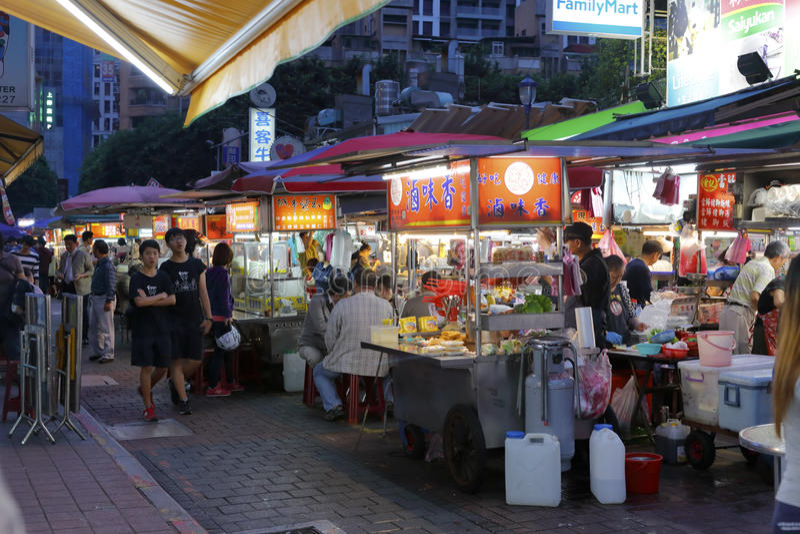 Taipei night market royalty free stock photos