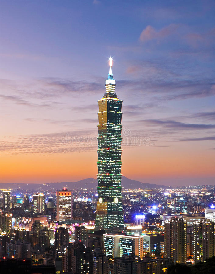 Free Taipei Night Scene Stock Photos - 13589453