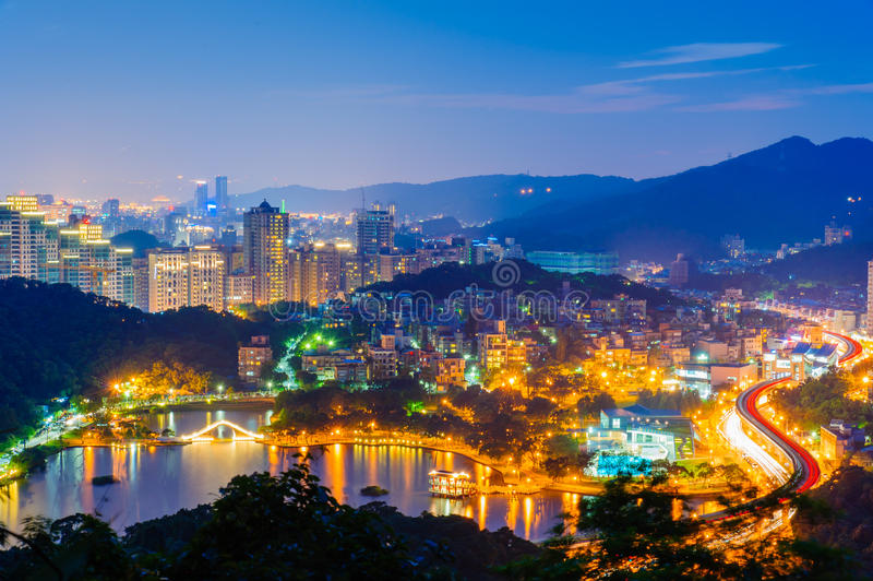 Taipei in the night royalty free stock photography