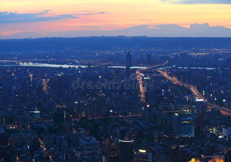 Download Taipei.Panoramic City Skyline At Sunset Stock Photo - Image of beautiful, exposure: 16586064