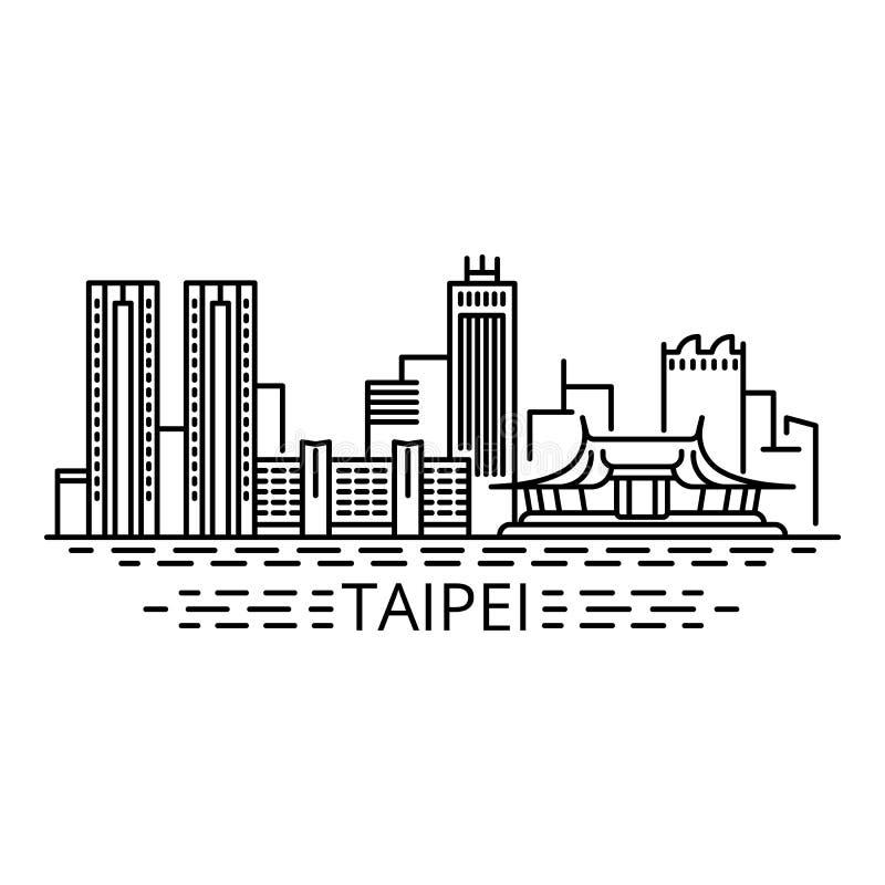 Taipei pojęcia tło, konturu styl ilustracji