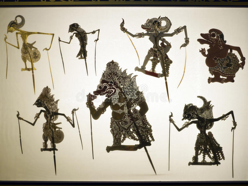 Taipei,shadow puppetry. Taipei, Taiwan - OCT 06, 2015: shadow puppetry play in Puppetry Art Center of Taipei.a type of opera using cloth puppets that originated royalty free stock photos