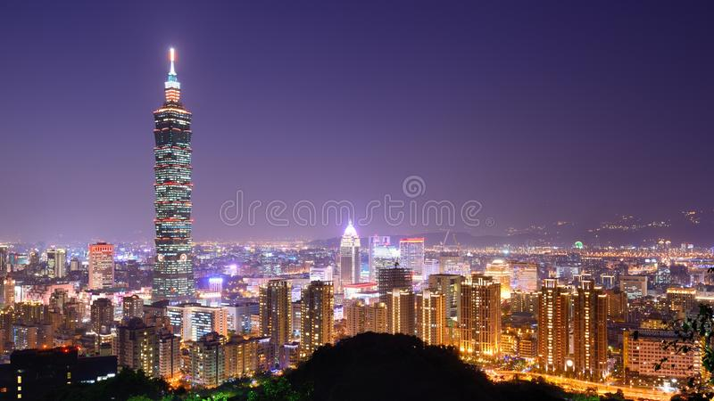 Download Taipei Skyline stock image. Image of urban, rises, observation - 31335761