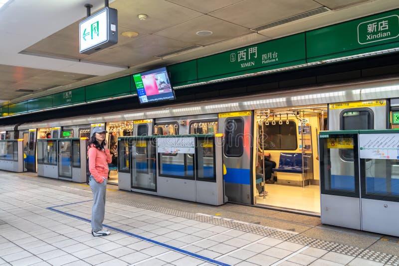 Taipei stacji metrej platforma i sala zdjęcia royalty free