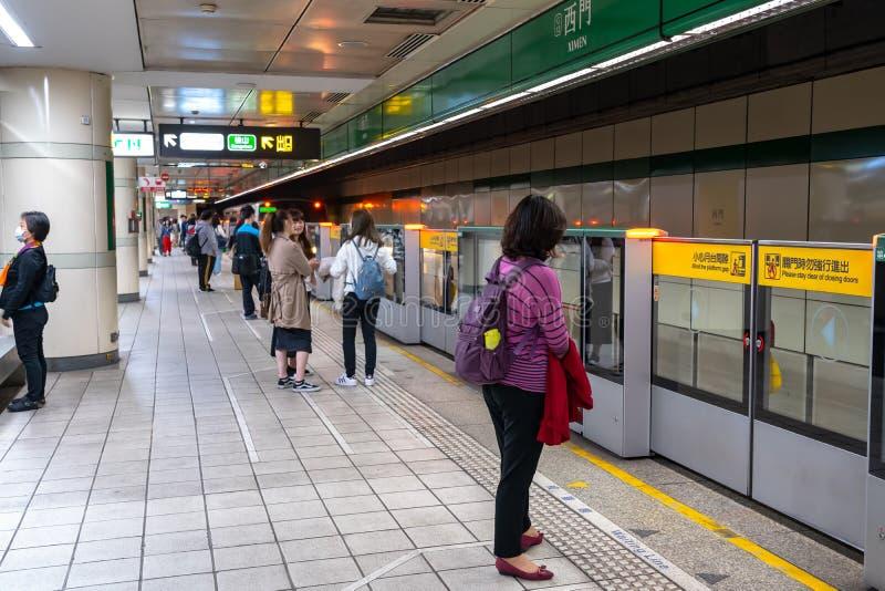 Taipei stacji metrej platforma i sala zdjęcie royalty free