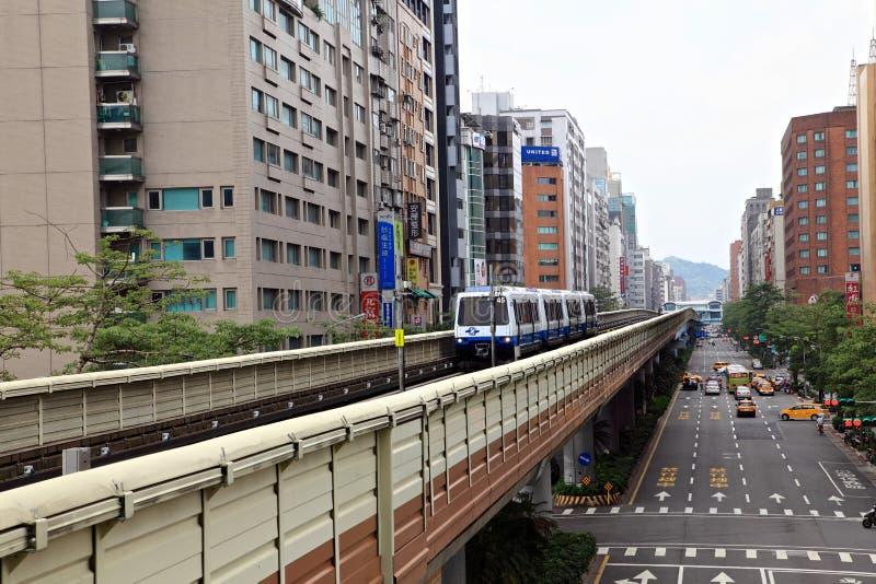 Taipei stadssikt, Taiwan royaltyfria bilder